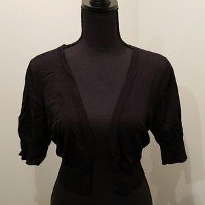 V-Neck Crop Sweater Cardigan